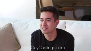 GayCastings Newcomer Johnny Cruz fucked by casting agent